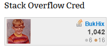 Buck Hicks Stack Overflow Cred Badge