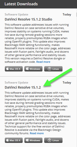 DaVinci Resolve 15.1 Latest Downloads